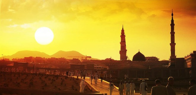 The City of Madinah - Prophet Muhammad (PBUH)'s final resting place and where the 'Constitution of Madinah' was written.